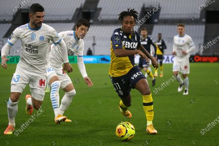 Marseille's Gonzalez-Soberon Alvaro and Monaco's Batalha Martins Gelson