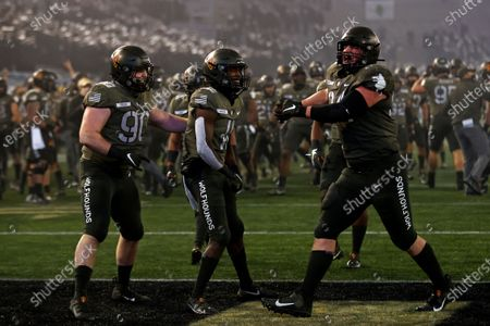 Stock Image of Army running back Brandon Walters (11) reacts against Navy during the second half of an NCAA college football game, in West Point, N.Y. It was the 121st playing of the Army-Navy game played in Michie Stadium at the United States Military Academy. Army defeated Navy 15-0