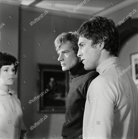 Rosemary Nicols as Annabelle Hurst, Richard Heffer as Hughes and Barry Andrews as Gadden