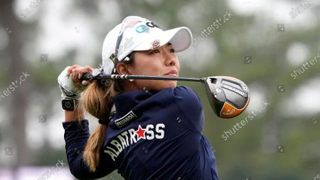 Jenny Shin, of South Korea, during the third round for the U.S. Women's Open golf tournament, in Houston