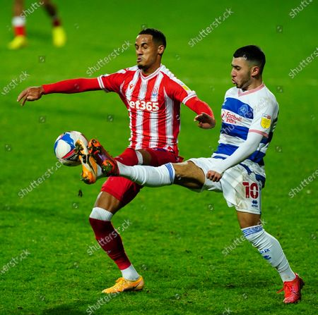 Ilias Chair of QPR battles with Thomas Ince of Stoke City