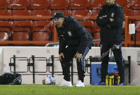 Sheffield Wednesday's Manager Tony Pulis shows frustration