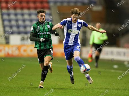 Editorial picture of Wigan Athletic v Rochdale, EFL Sky Bet League One, Football, DW Stadium, Wigan, UK - 15 Dec 2020