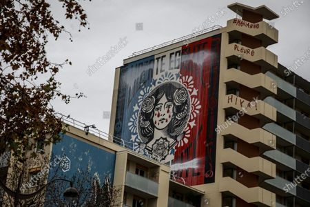 Editorial photo of Obey's fresco hijacked in Paris, France - 14 Dec 2020