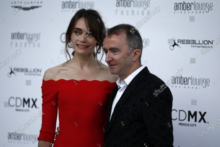 Paddy Lowe (GBR) Williams Shareholder and Technical Director and wife Anna Danshina (RUS) at the Amber Lounge fashion show