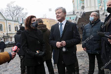 Editorial image of Briefing of Petro Poroshenko in Kyiv, Ukraine - 13 Dec 2020