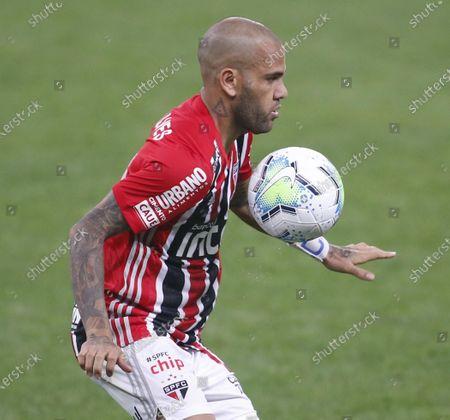 Stock Picture of Daniel Alves of Sao Paulo