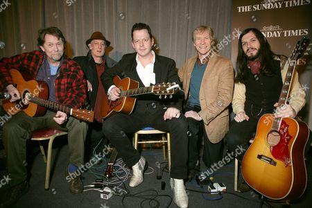 Ed Genis, Michael Messer, Ian Siegal, Paul Jones and Marcus Bonfanti
