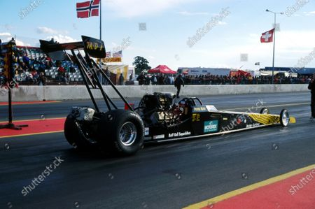 Peter Beck (SUI), last year's Top Alcohol dragster champion. FIA European Drag Racing Championship, Santa Pod, England, 12 September 1998.
