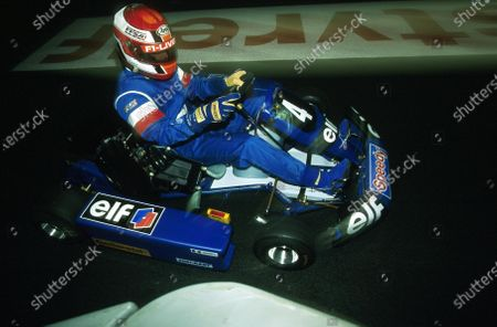 Young French  star Jonathon Cochet ELF Karting Masters Paris Bercy, France 9th - 10th December 2000