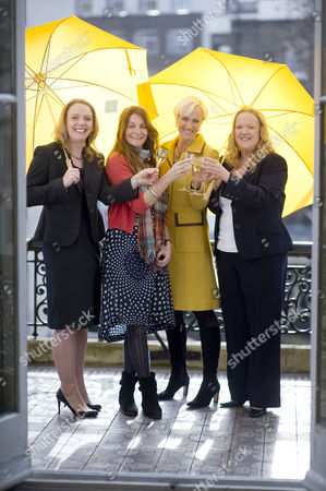Stock Image of Louise Wymer, The Catering Academy; Victoria Stapleton, Founder of  Brora; Laura Tenison, JoJo Maman Bebe; and Gill Riley, GGR Group