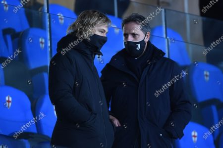 Pavel Nedved, juventus vice president and Fabio Patrici, Managing Director, Football Area