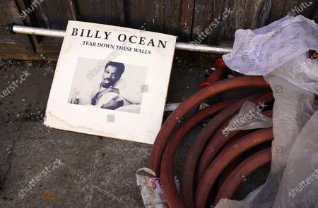 An album by Billy Ocean is found near the back entrance of an underground nightclub operated by The LA Party Society, in the downtown Fashion District in Los Angeles. The Los Angeles city attorney is seeking to shut down the club, which is allegedly operating despite coronavirus restrictions