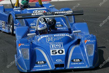The Lucchini Engineering car of Gianni Collini (ITA) and Fabio Mancini (ITA) retired with engine failure on lap 9. FIA World Sportscar Championship, Rd4, Magny Cours, France. 30 June 2002. DIGITAL IMAGE