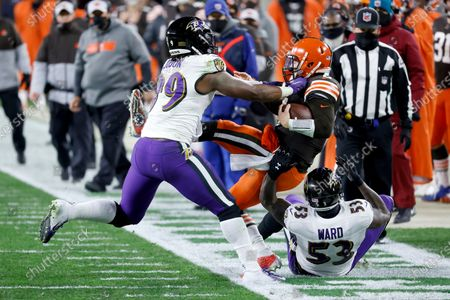 Editorial photo of Ravens Browns Football, Cleveland, United States - 14 Dec 2020