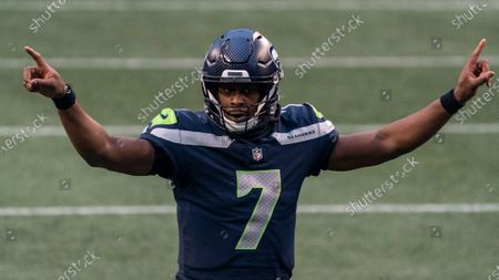Seattle Seahawks quarterback Geno Smith is pictured during the second half of an NFL football game against the New York Jets, in Seattle. The Seahawks won 40-3
