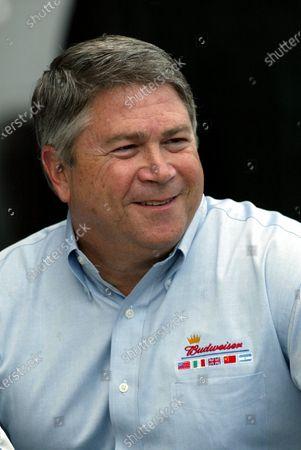 Stock Photo of Tony Ponturo, Vice-president, global media and sports marketing, Anheuser-Busch Inc. parent company to Budweiser. Formula One World Championship, Rd11, British Grand Prix, Silverstone, England, 18 July 2003. DIGITAL IMAGE