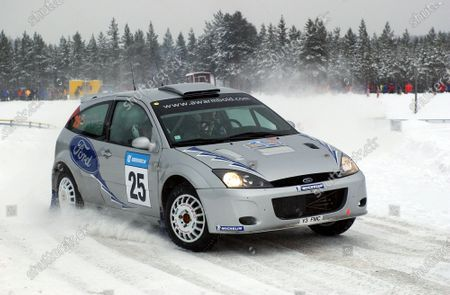 Antony Warmbold (GER) / Gemma Price (GBR) Ford Focus WRC. World Rally Championship, Rd2, Rally of Sweden, Day One, Karlstad, Sweden, 7 February 2003. DIGITAL IMAGE