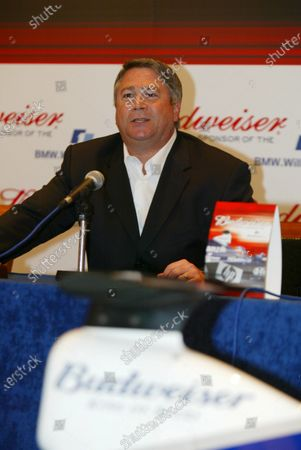 Tony Ponturo (USA), Vice President, Global Media and Sports Marketing, Anheuser-Busch Inc. BMW Williams F1 Team announce the official sponsorship of Anheuser-Busch and their Budweiser brand. 16 July 2003, London, England. DIGITAL IMAGE