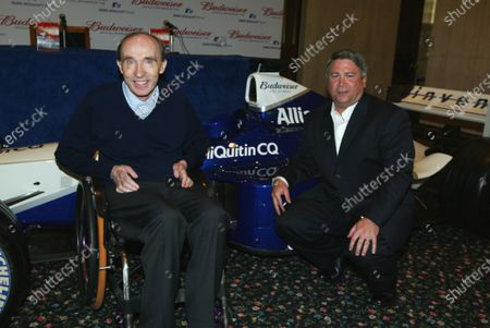 Tony Ponturo (USA), Vice President, Global Media and Sports Marketing, Anheuser-Busch Inc. with Frank Williams (GBR) WilliamsF1 Team Principal  BMW Williams F1 Team announce the official sponsorship of Anheuser-Busch and their Budweiser brand. 16 July 2003, London, England. DIGITAL IMAGE