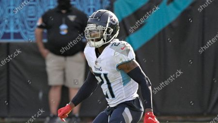 Tennessee Titans cornerback Malcolm Butler (21) follows a play during the second half of an NFL football game against the Jacksonville Jaguars, in Jacksonville, Fla