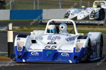 Massimo Saccomanno (ITA) / Fabio Mancini (ITA) / Gianni Collini (ITA) GP Racing Lucchini Nissan. FIA Sportscar Championship, 8-10 August 2003, Donington Park, England. DIGITAL IMAGE.