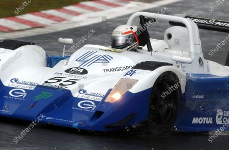 Massimo Saccomanno (ITA) / Fabio Mancini (ITA) / Gianni Collini (ITA) GP Racing Lucchini Alfa Romeo,  in very wet conditions. FIA Sportscar Championship, Rd 5, Spa-Francorchamps, Belgium. 31 August 2003. DIGITAL IMAGE