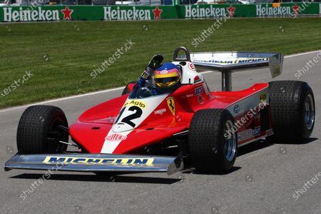 Jacques Villeneuve (CDN) drives his Fathers 1978 Canadian GP winning Ferrari 312T3