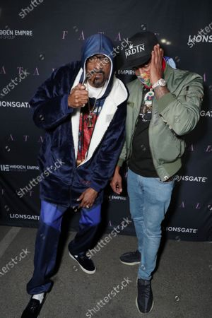 Stock Picture of Snoop Dogg and DJ Whoo Kid
