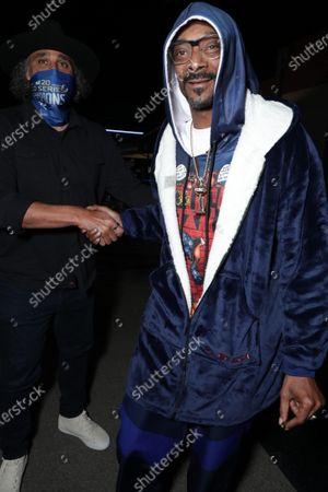 Stock Image of Rick Fox and Snoop Dogg