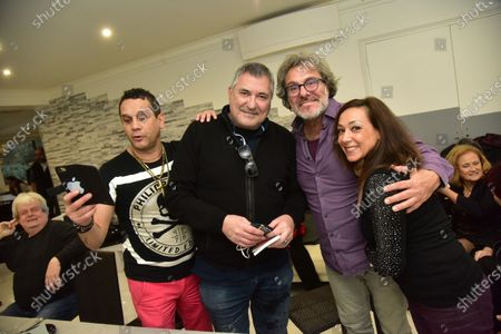 Editorial picture of Christmas lunch with friends organized by David Donadei, Paris, France - 13 Dec 2020