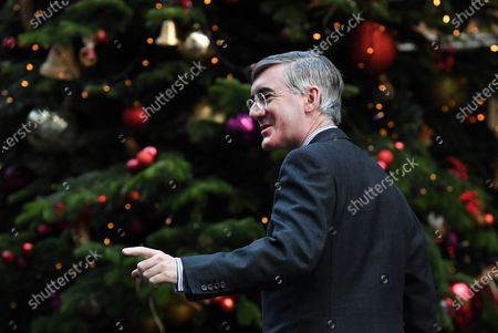 British Lord President of the Council, Leader of the House of Commons Jacob Rees-Mogg arrives for a cabinet meeting at 10 Downing Street in London, Britain, 15 December 2020.