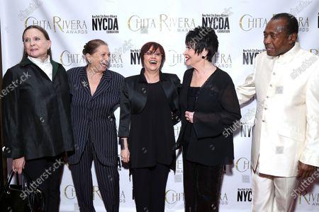 Stock Photo of Ann Reinking, Graciela Daniele, Lisa Mordente, Chita Rivera, and Ben Vereen at the 2019 Chita Rivera Awards held at NYU Skirball Center for the Performing Arts