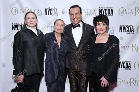 Ann Reinking, Graciela Daniele, Joe Lanteri, and Chita Rivera at the 2019 Chita Rivera Awards held at NYU Skirball Center for the Performing Arts