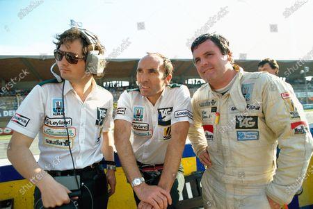 Frank Dernie, Frank Williams and Alan Jones.