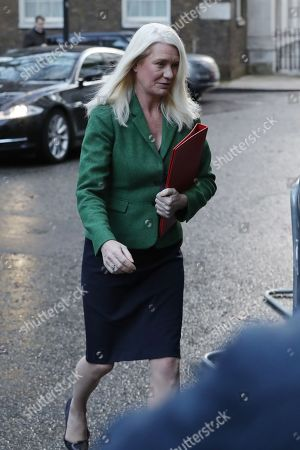Amanda Milling, Chairman of Conservative Party attends cabinet meeting in Downing Street