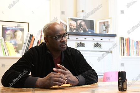 Stock Picture of Former French national football team player Lilian Thuram speaks about racism during an interview