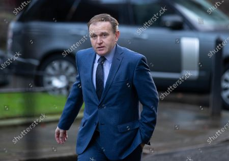 George Eustice, Secretary of State for Environment, Food and Rural Affairs, arrives for the Cabinet meeting.