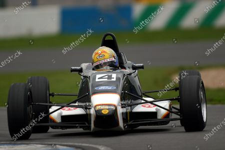 Alexis Sabet (COL) Team JLR. British Formula Ford Championship, Donnington Park, England, 3-4 April 2004. DIGITAL IMAGE.