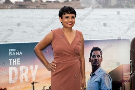 Miranda Tapsell walks the black carpet for the film premiere 'The Dry'
