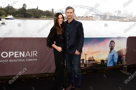 Eric Bana with his wife Rebecca Gleeson walks the black carpet for the film premiere 'The Dry'