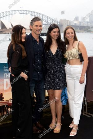 Stock Photo of Eric Bana with his wife Rebecca Gleeson, daughter Sophie and niece Jasmine Taylor walks the black carpet for the film premiere 'The Dry'