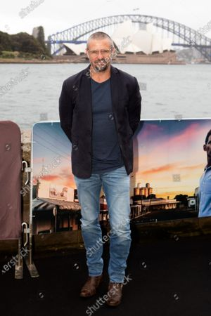 Stock Image of Matthew Nable walks the black carpet for the film premiere 'The Dry'