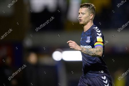 Jason Demetriou of Southend  in action during Sky Bet League Two match between Southend and Grimsby Town at Roots Hall in Southend, UK - 15th December 2020