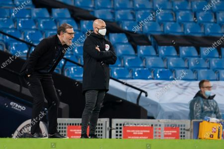 West Bromwich Albion's manager Slaven Bilic left issues instructions from the touchline