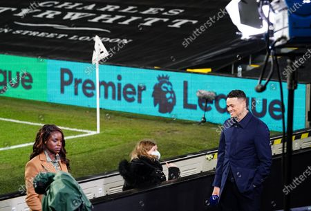 Stock Image of Eniola Aluko and Jermaine Jenas present the Amazon Prime live coverage