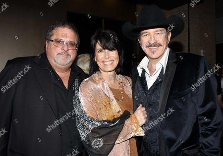 Stock Image of Bob DiPiero, Kix Brooks and Barbara Brooks