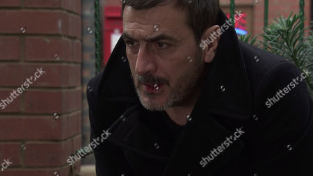 Coronation Street - Ep 10206 & Ep 10207 Monday 28th December 2020  As Peter Barlow, as played by Chris Gascoyne, slumps to the ground, a panicky Daniel Osbourne calls for an ambulance.