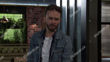 Coronation Street - Ep 10217 & Ep 10218 Friday 8th January 2021 David Platt, as played by Jack P Shepherd, accuses Ray Crosby of rehousing them there out of spite but Ray darkly warns David things will get nasty if he refuses to leave No.8.