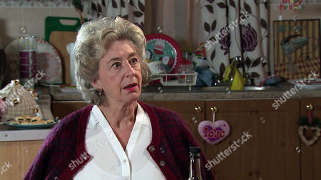 Coronation Street - Ep 10214 Monday 4th January 2021 - 2nd Ep Arthur Medwin breaks the news that he's moving back to Canada tomorrow and suggests that she should come with him, Evelyn's, as played by Maureen Lipman, stunned.